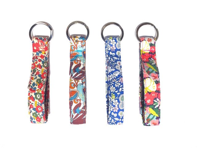 BlossomCo's Liberty Art Fabrics Key Rings