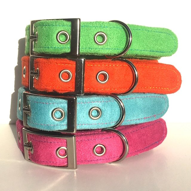 Handmade Faux Suede Dog Collars by BlossomCo