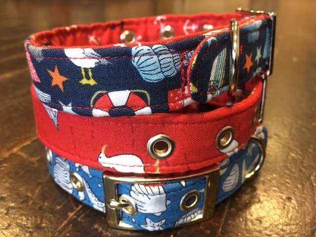 Handmade dog collars for the coastal look