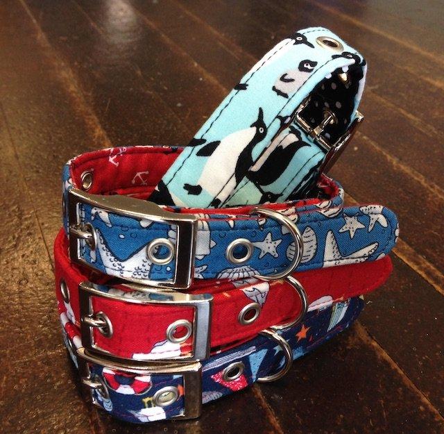 Penguins Theme Handmade Dog Collar